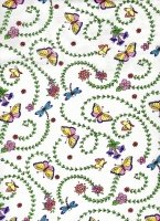 Glittery Butterflies And Dragonflies / White cr873