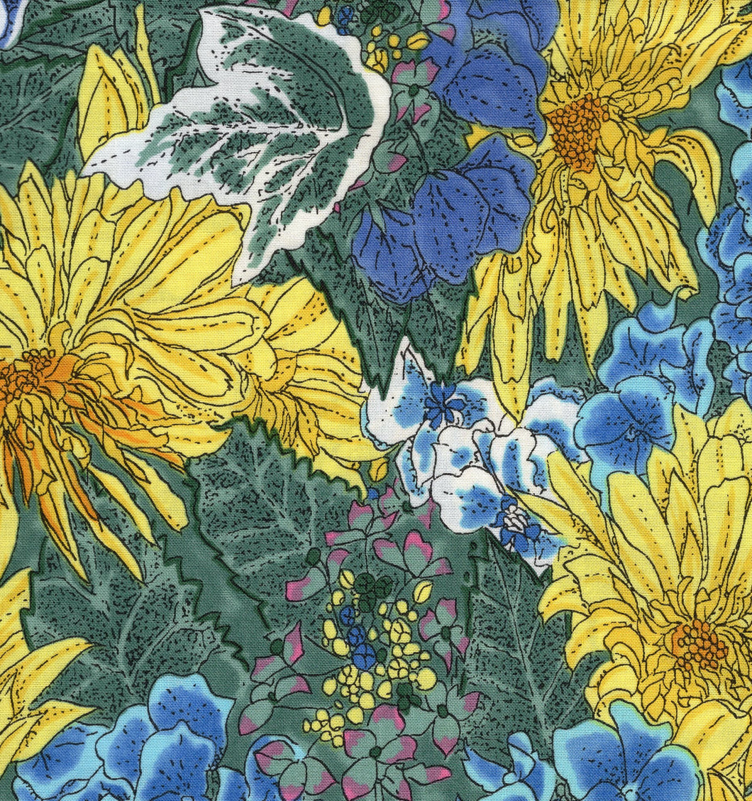 Spring Mix Blue And Yellow flo363