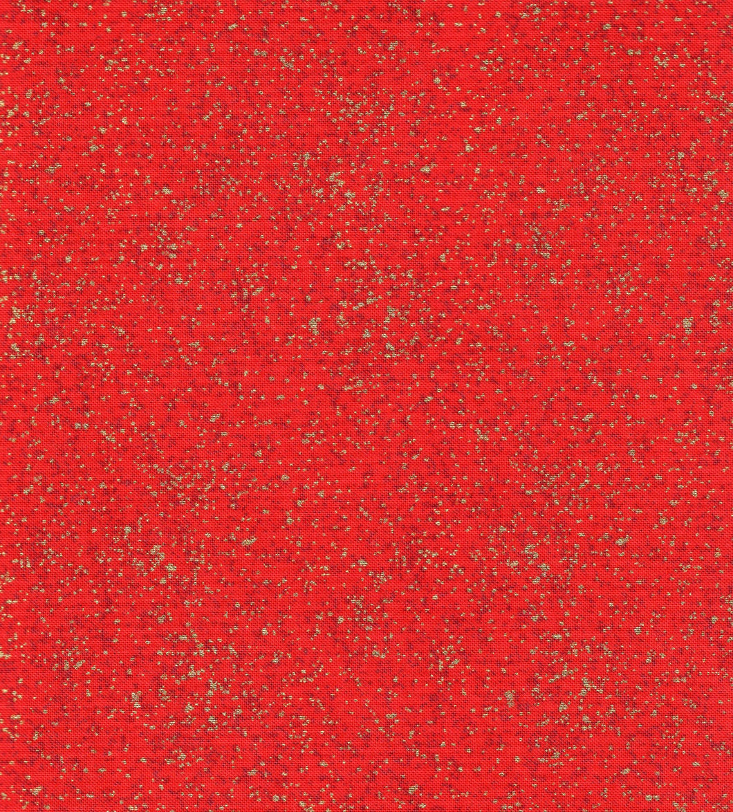Red Texture / Gold Metallic ho545
