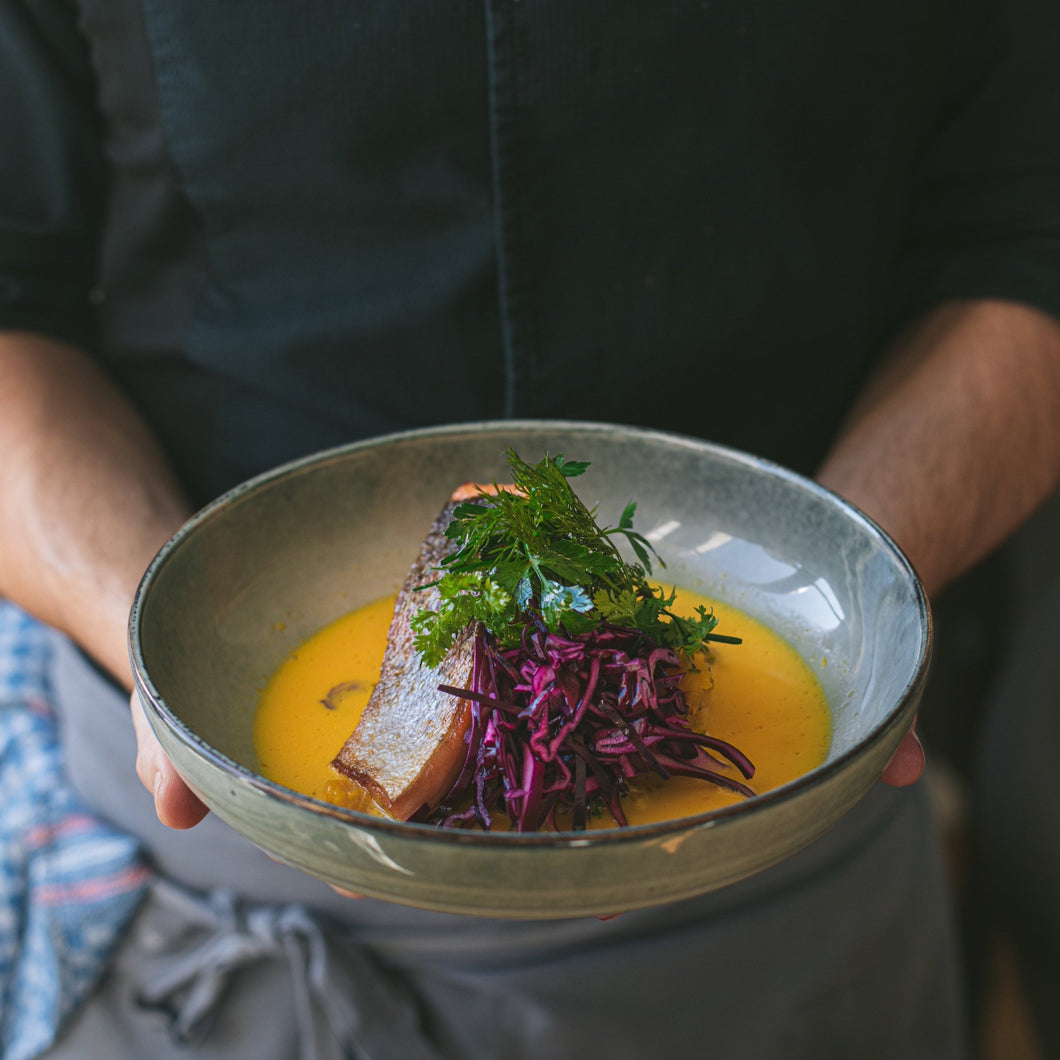 Basic roasted Jura trout with red curry and butternut squash meal kit