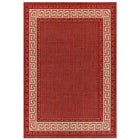 Thumbnail of Greek Key Flatweave Red Rug 160x225 (Large)