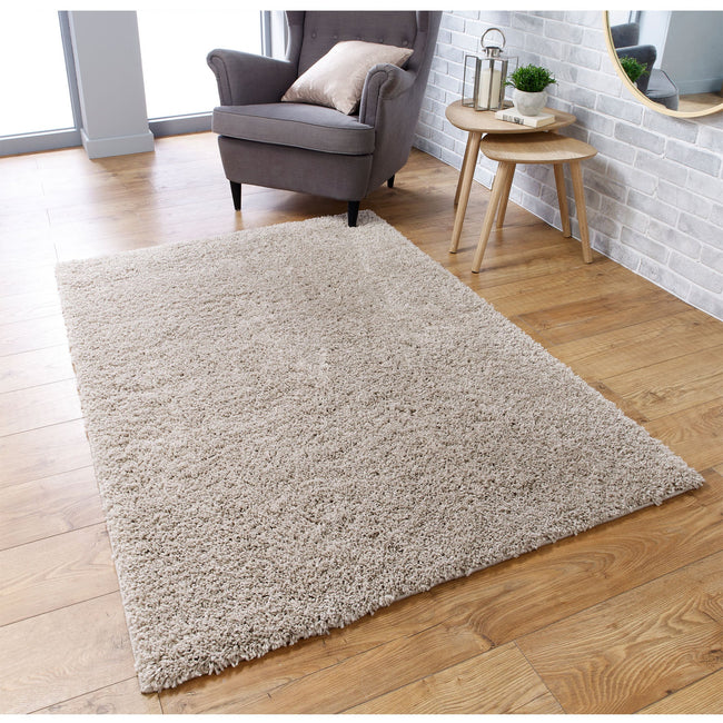 Large image of Serene Light Beige Rug 200x285 (Extra Large)