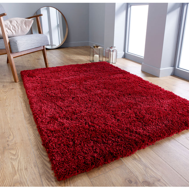 Large image of Serene Red Rug 200x285 (Extra Large)