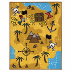 childs treasure playmat with mountains palmtrees and pirate crossbones treasure chest