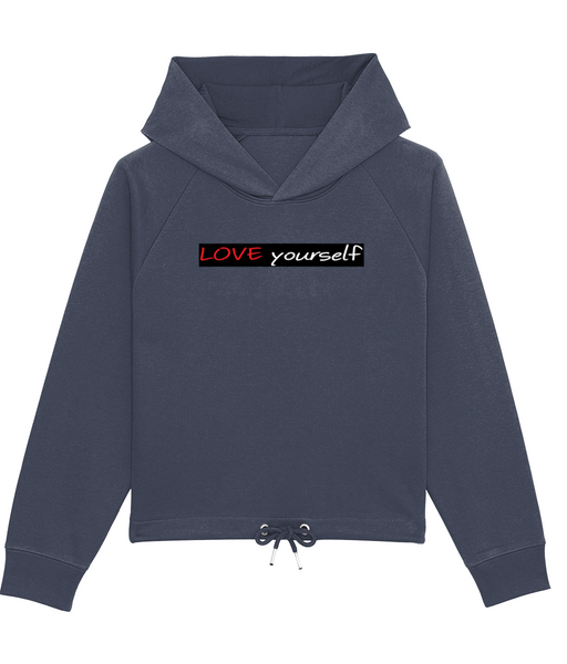 'LOVE yourself', Organic Women's Hoodie Sweatshirt