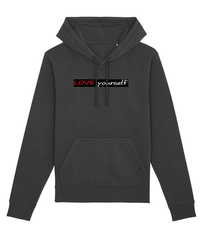 'LOVE yourself', Organic Unisex Hoodie sweatshirt (Kangaroo pocket)