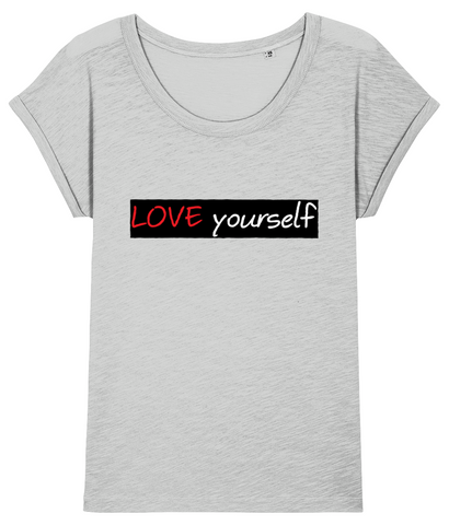 'LOVE yourself', Organic Women's T-shirt (Dolman sleeve)