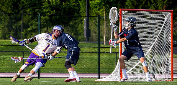 Tehoka Nanticoke Drives net against USA