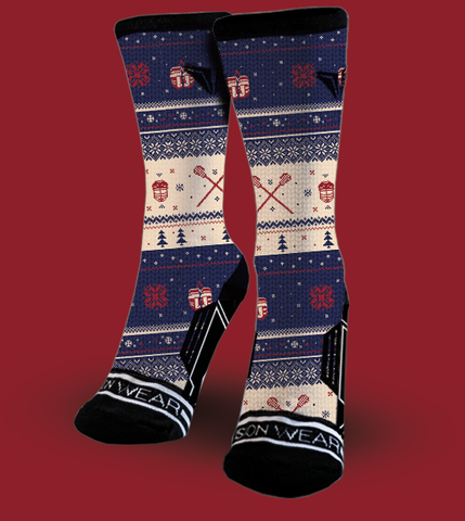 Lacrosse christmas socks