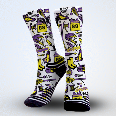 Iroquois nationals lacrosse socks