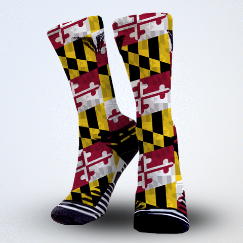 Maryland flag lacrosse socks