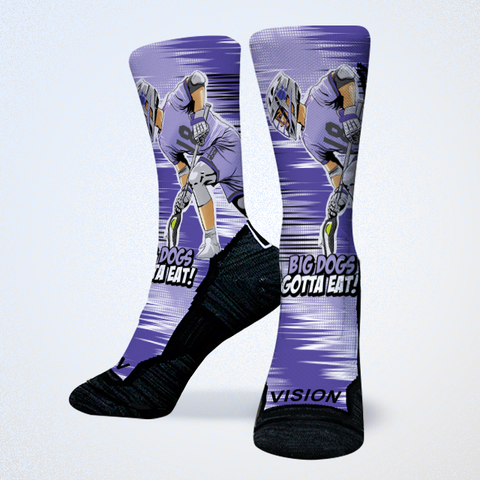 Jake Withers Premier Lacrosse League Waterdogs Socks  Edit alt text