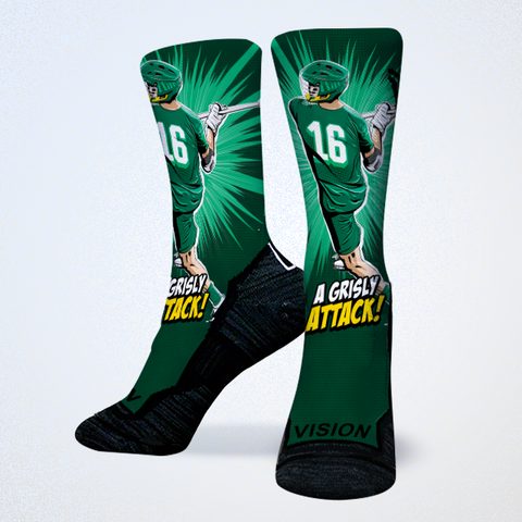 Sergio Perkovic PLL Redwoods Premier League Lacrosse Socks