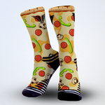 Food Pizza socks print