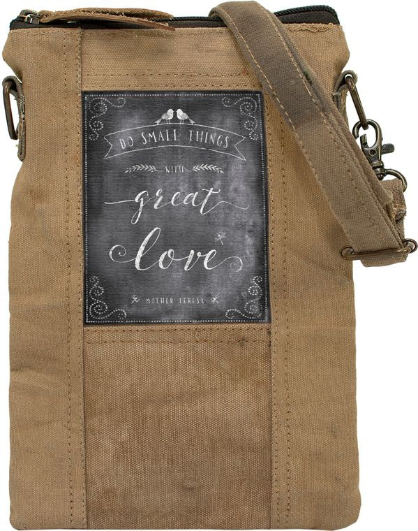 Small Things/Great Love Recycled Tent Crossbody