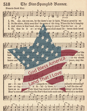 Load image into Gallery viewer, STAR SPANGLED BANNER (+More Design Options)