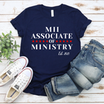 Load image into Gallery viewer, Associate of Ministry Established 2021 Jersey Short Sleeve Tee