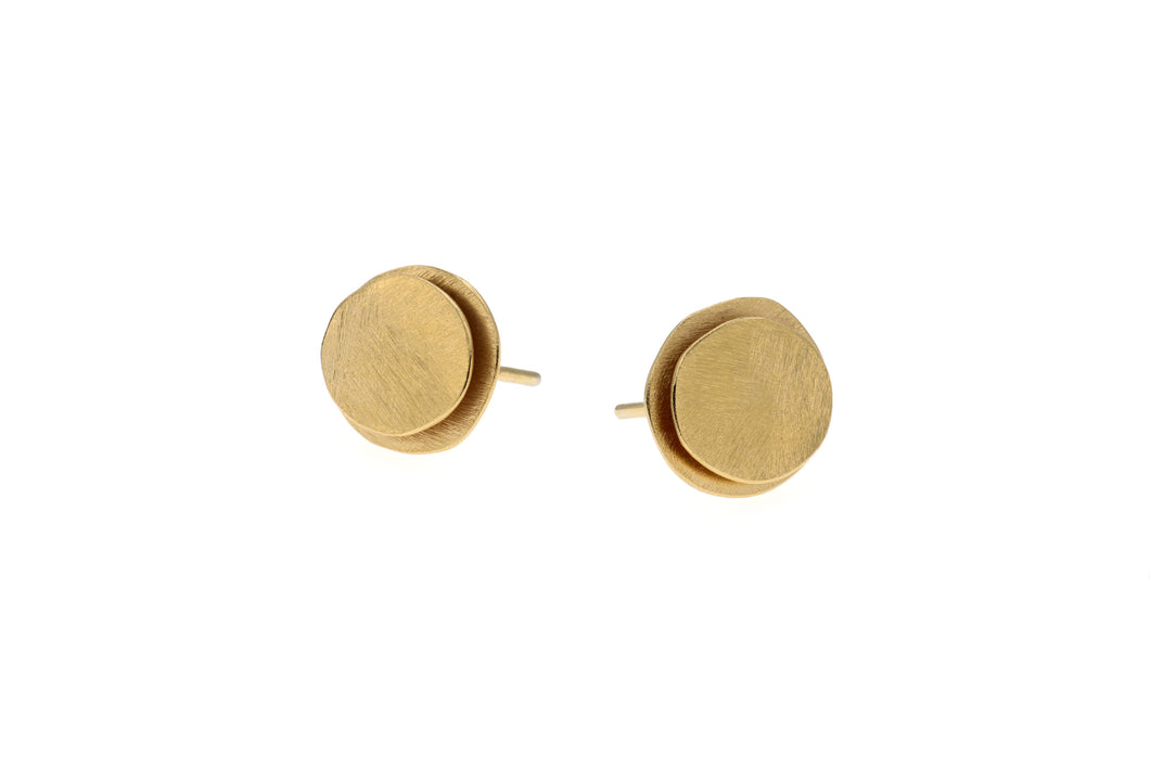 Deco Echo Earrings Sterling Silver Vermeil Studs