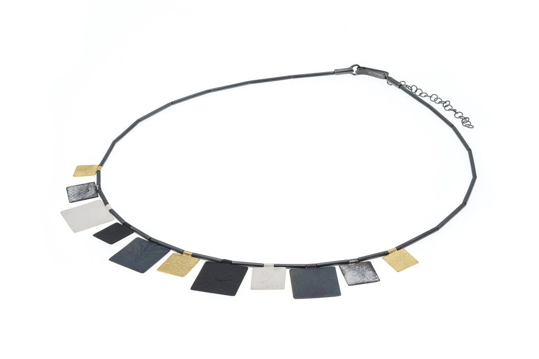 Deco Echo Necklace in 3 colour silver