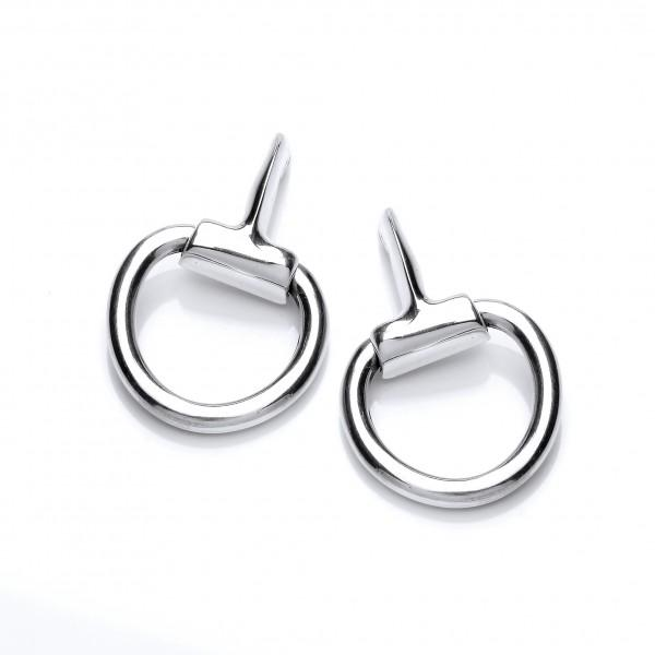 Urban Armour Silver Horse Bit Earrings