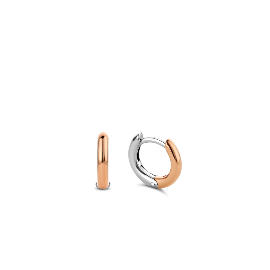 Small Silver Rose Gold plated Hoop Earrings