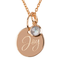 "Load image into Gallery viewer, 18ct Yellow Gold Vermeil ""Joy"" Pendants"