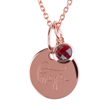 "Load image into Gallery viewer, 18ct Rose Gold Vermeil ""Hope"" Pendants"