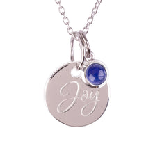 "Load image into Gallery viewer, Sterling Silver ""Joy"" Pendants"