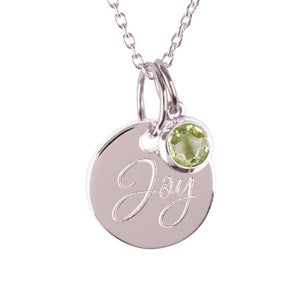 "Sterling Silver ""Joy"" Pendants"