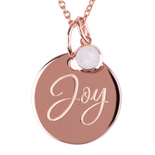 "Load image into Gallery viewer, 18ct Rose Gold Vermeil ""Joy"" Pendants"