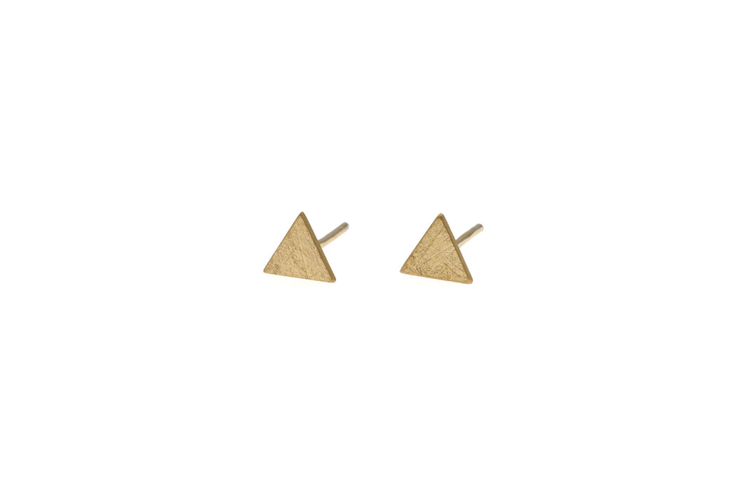 Small vermeil triangle studs