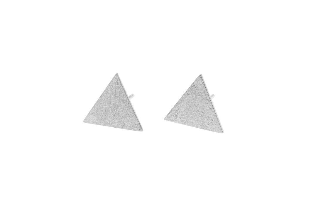 Large Sterling Silver triangle studs
