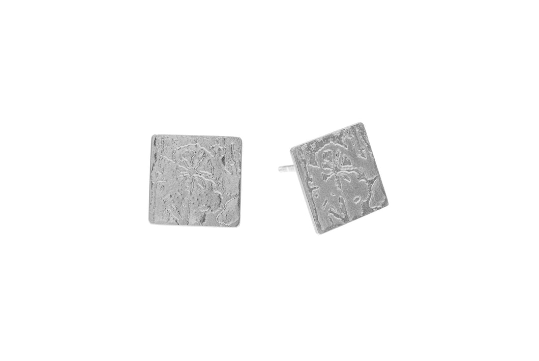 Large square Sterling Silver studs