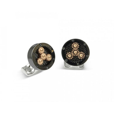 Deakin & Francis Sun & Planet Gear Cufflinks - Black