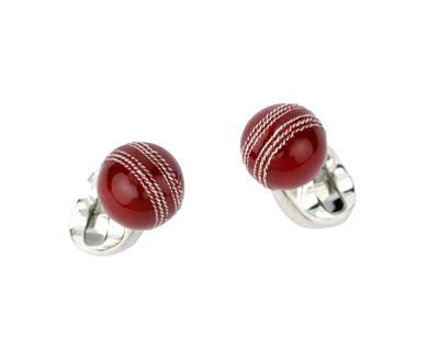 Deakin & Francis Cricket Ball Cufflinks