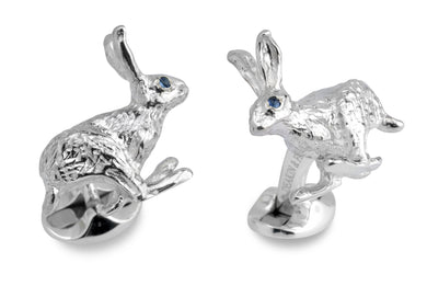 Deakin & Francis Hare Cufflinks With Sapphire Eyes