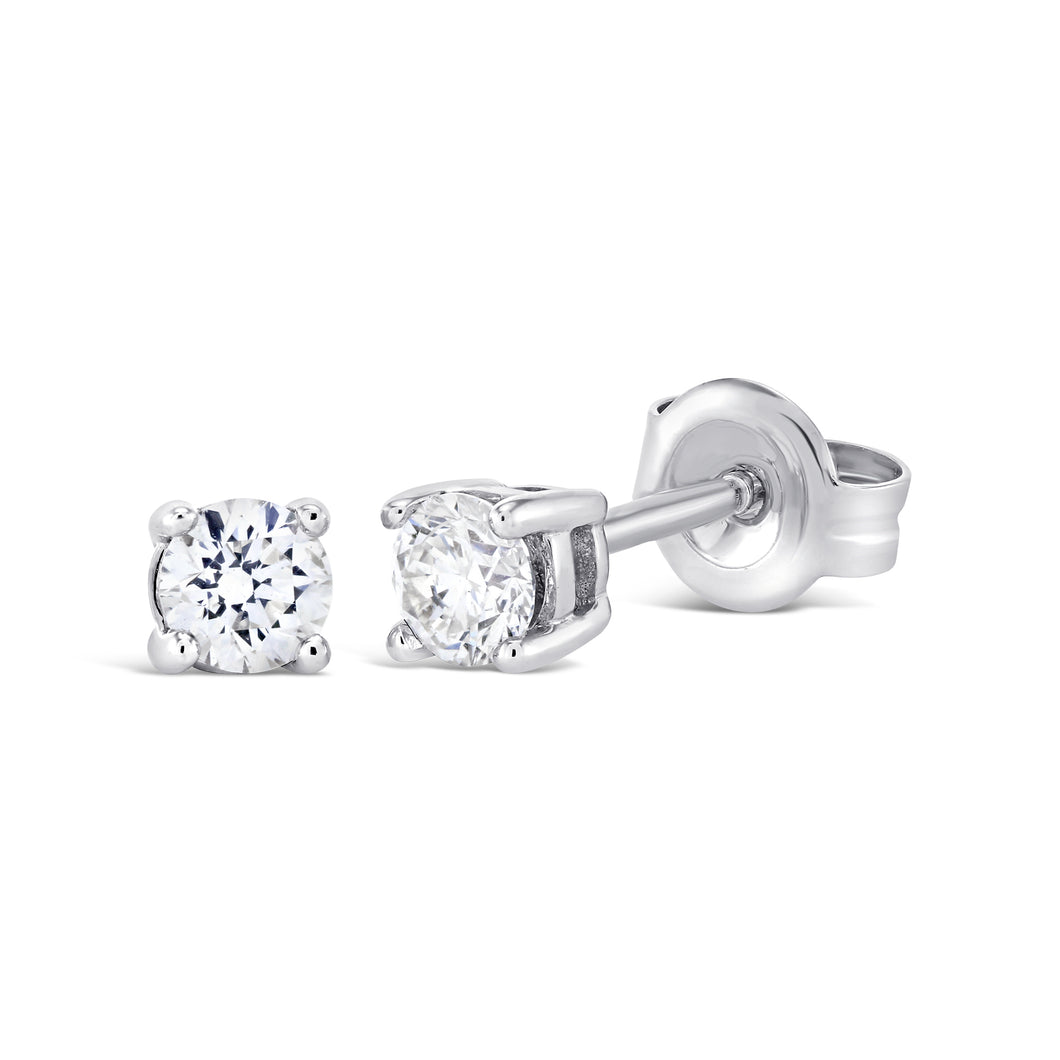 18ct White Gold 0.33ct Diamond stud earrings