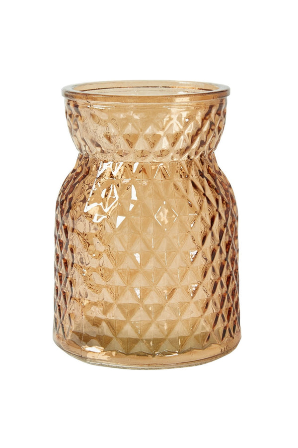 Flowers by Cos Vase Rombe D10x14 glas Brown