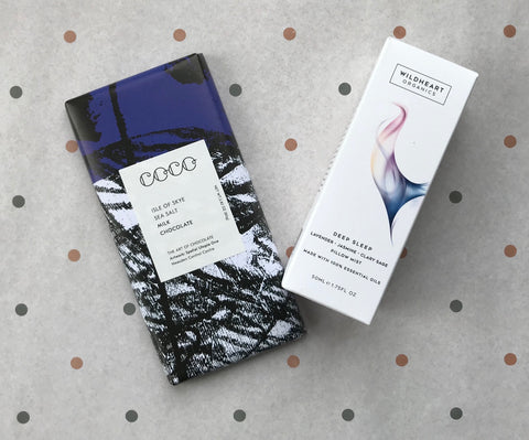 Wildheart Organics Deep Sleep Pillow Mist & Coco Chocolatier Chocolate Giftbox