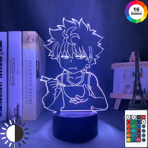 white Hunter X Hunter Killua 3D Led Lamp