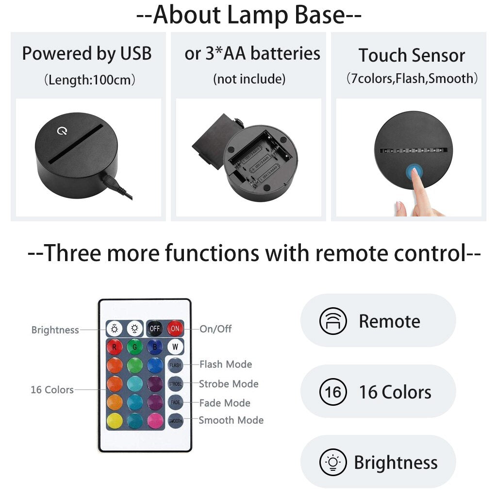 about lamp base, remote function