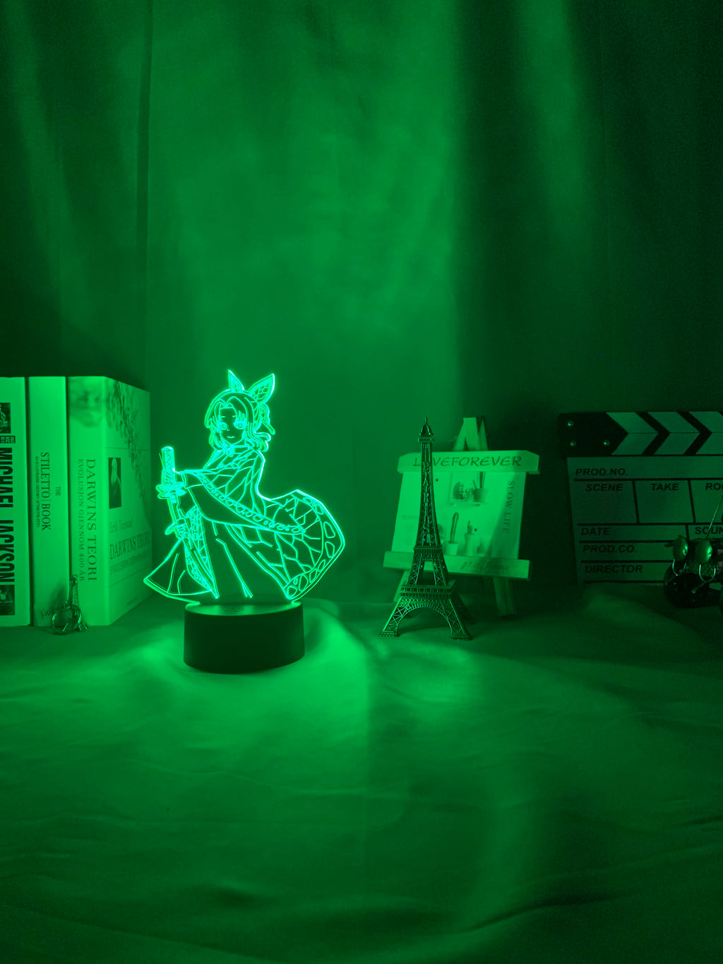 green 3d Lamp Anime Demon Slayer Kocho Kanae