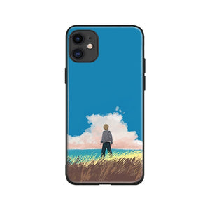 landscape Katsuki Bakugo My Hero Academia Anime Soft Silicone Phone Case for IPhone