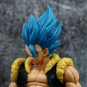 Dragon Ball Z Blue Gogeta Goku PVC Anime Model Action Figurine close up pose