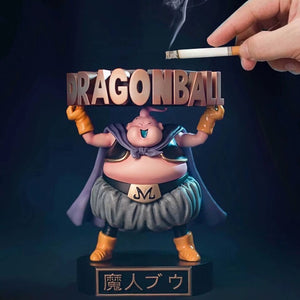 Dragon Ball Z Majin Buu Ashtray PVC Anime Model Figurine being used