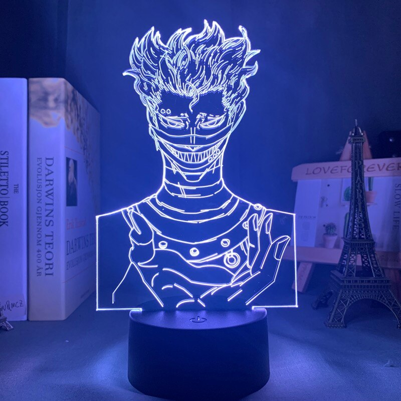 white Black Clover Zora Ideale 3D Led Lamp
