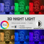 red, green, purple, yellow, blue, pink 3d Lamp Anime hunter x hunter killua