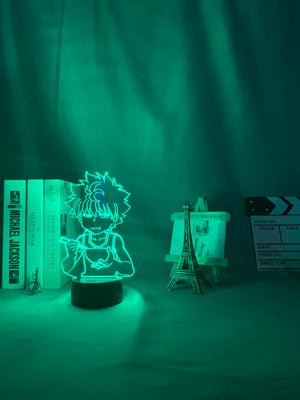 green Hunter X Hunter Killua 3D Led Lamp