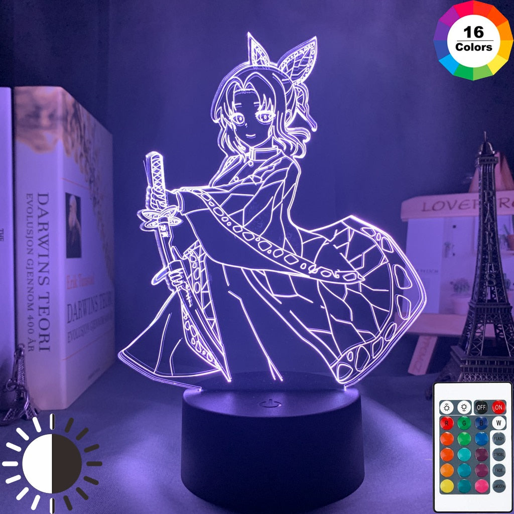 purple 3d Lamp Anime Demon Slayer Kocho Kanae