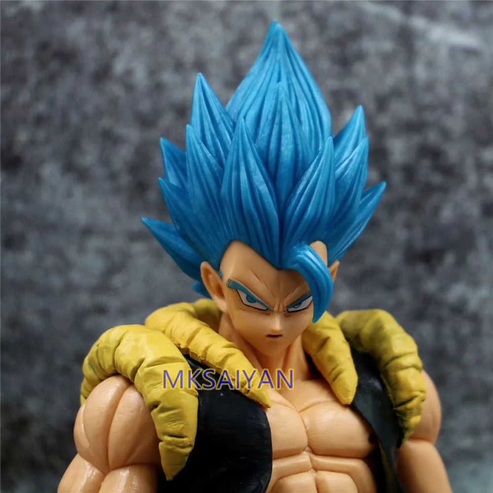 Dragon Ball Z Blue Gogeta Goku PVC Anime Model Action Figurine close up pose front view